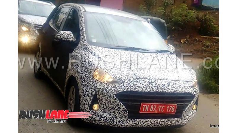 2019 Hyundai Grand i10 test mule image surface in India