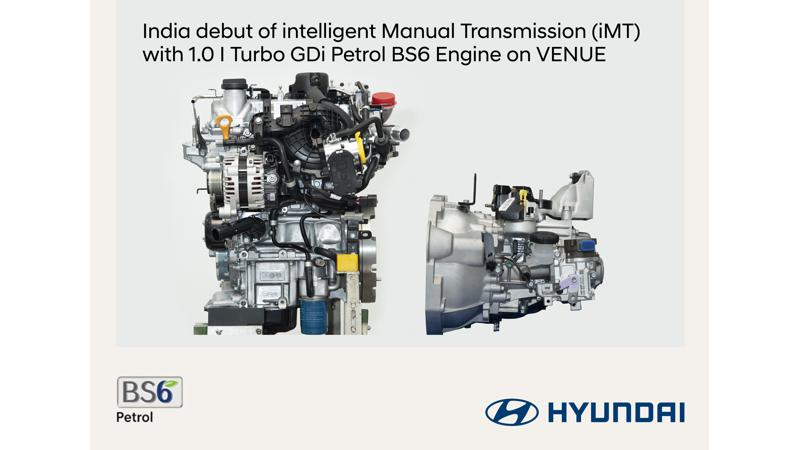 Hyundai Venue 1.0 T-GDi to soon get intelligent Manual Transmission (iMT) technology