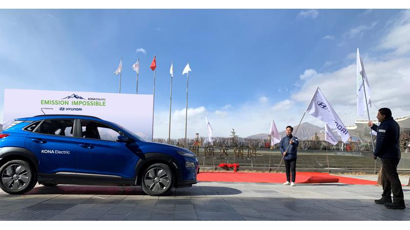 Hyundai Kona EV starts expedition to Everest base camp
