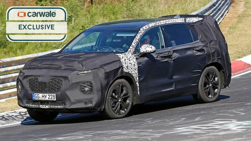 Next-gen Hyundai Santa Fe spotted in Europe