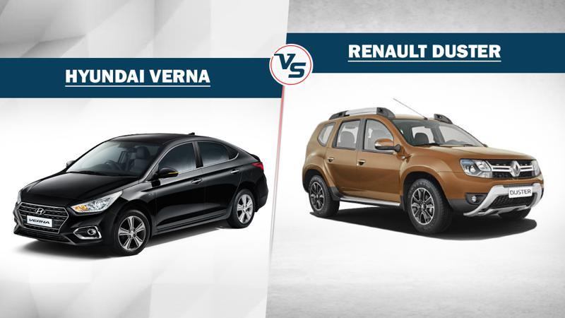 Spec Comparo: Hyundai Verna CRDI SX Plus AT vs Renault Duster RXZ 4X2 AMT