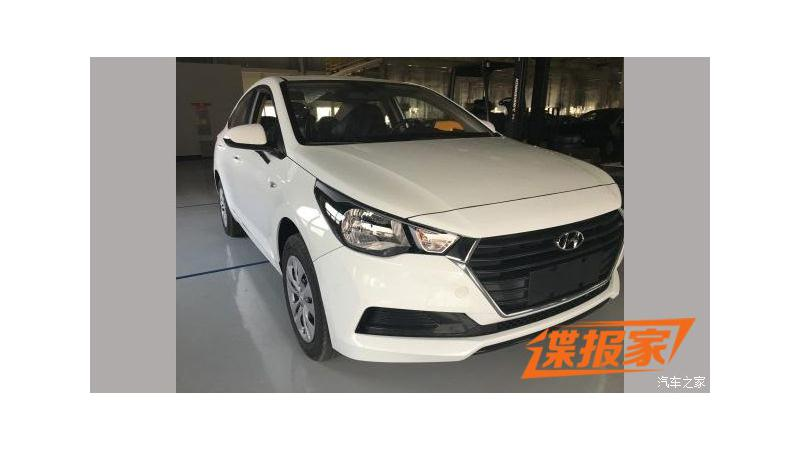 Next-generation Hyundai Verna production version spotted in China