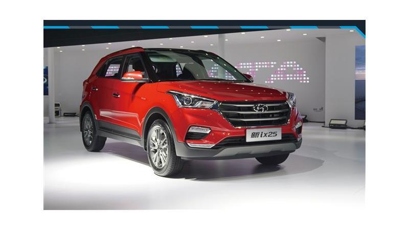 The face lifted Hyundai Creta unveiled internationally