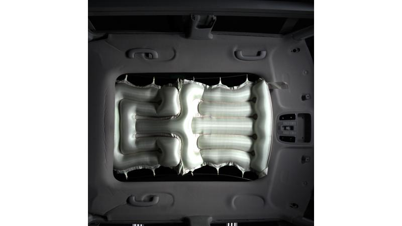 Hyundai developed the first airbag system for sunroofs