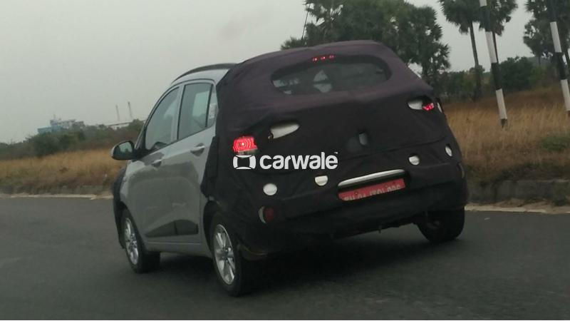 Hyundai Grandi10 facelift spied testing in a disguised avatar
