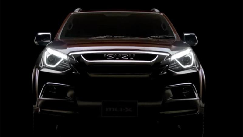 Isuzu teases their facelifted MU-X in the global market