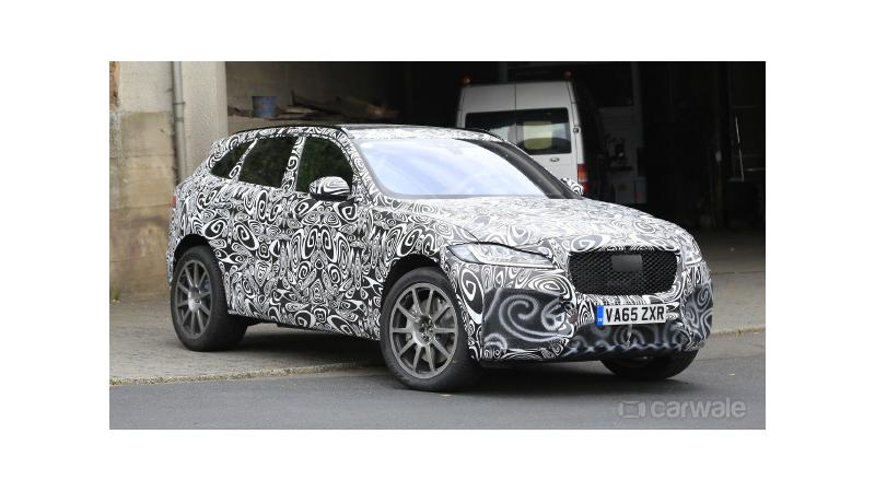 2018 Jaguar F-Pace SVR test mule images surface