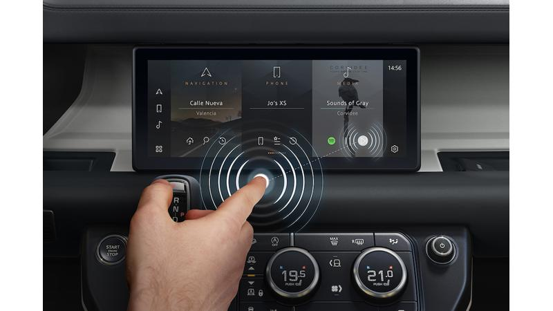 Jaguar Land Rover introduces new contactless touchscreen technology