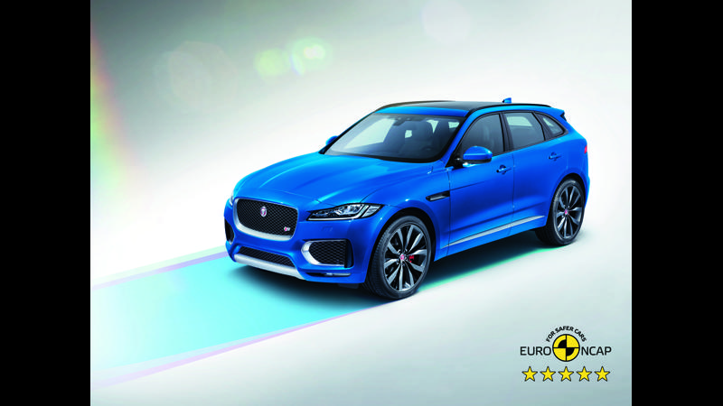 Jaguar F-Pace earns five-stars rating in Euro NCAP