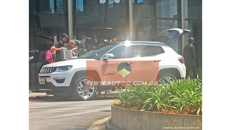 Jeep C-SUV spotted undisguised; Likely to continue Compass Moniker