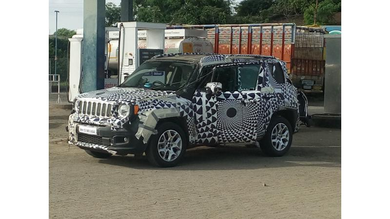 Camouflaged Jeep Renegade spotted doing the rounds