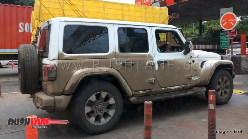 Jeep Wrangler spied testing in India