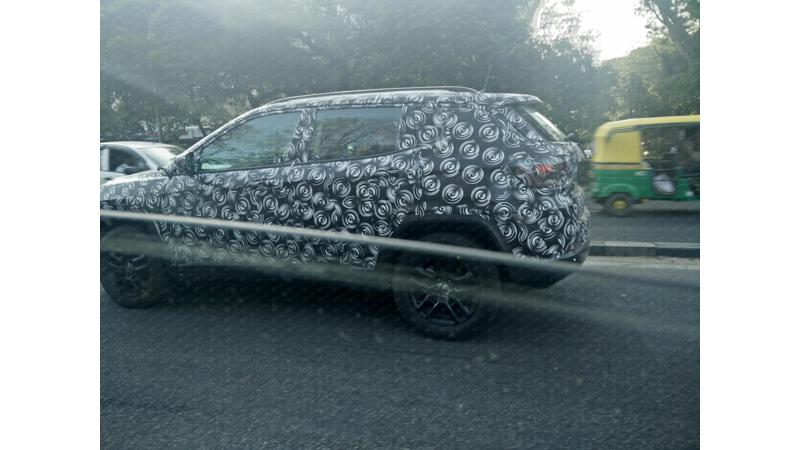 Jeep Compass spotted on test in India