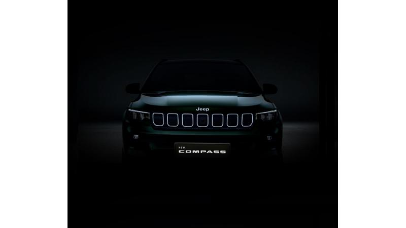 Jeep Compass facelift teased ahead of debut on 7 January, 2021