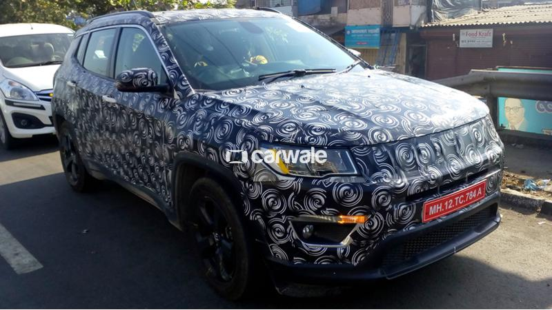 2017 Jeep Compass spotted taking rounds in Mumbai