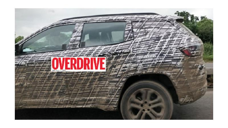Seven-seater Jeep Compass spied testing on India roads