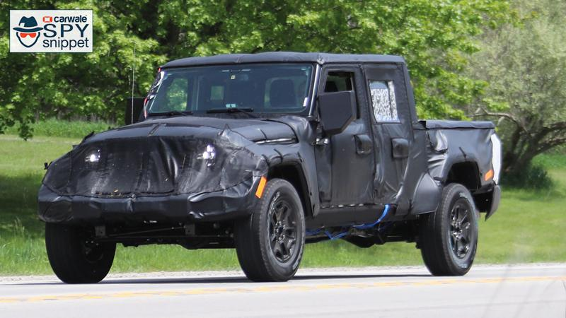 Jeep caught testing its Wrangler pickup