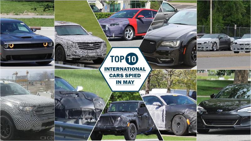 10 international cars spied in May