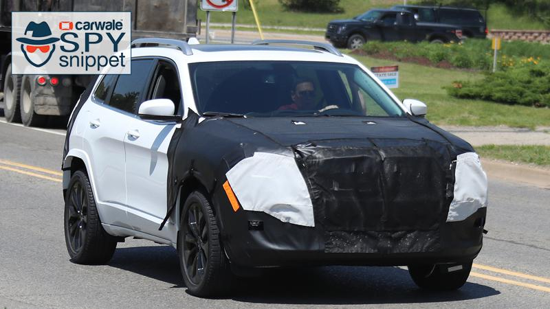 2018 Jeep Cherokee spied testing