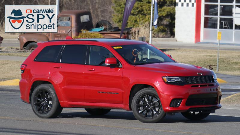 Jeep Grand Cherokee with Hellcat engine spied