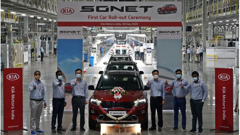 Kia commences production of Sonet sub-four metre SUV ahead of launch on 18 September
