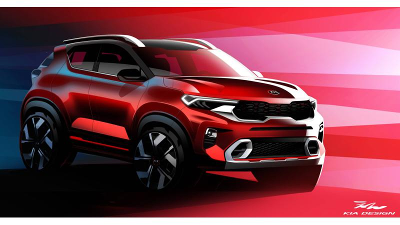 Kia Sonet official sketches revealed ahead of world premiere