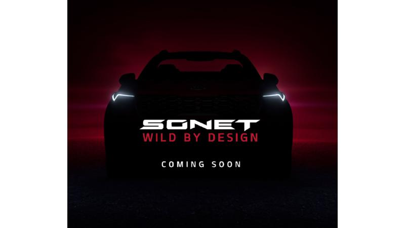 Kia teases Sonet ahead of world premiere in India on 7 August
