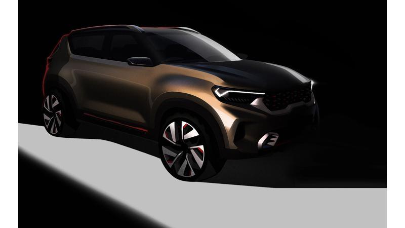 Kia teases QYI compact SUV concept; global debut at 2020 Auto Expo
