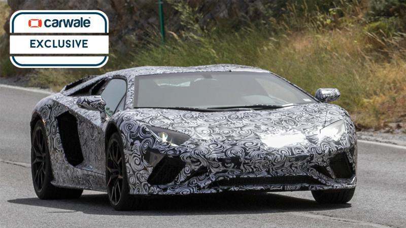 Lamborghini Aventador facelift spotted on test