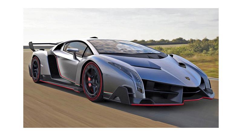 Lamborghini exhibits an all new street-legal supercar, Veneno