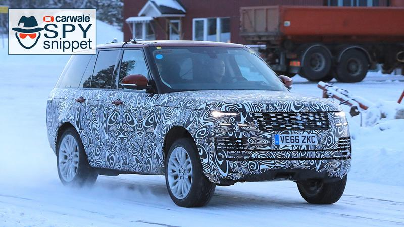 Facelifted Range Rover spotted testing