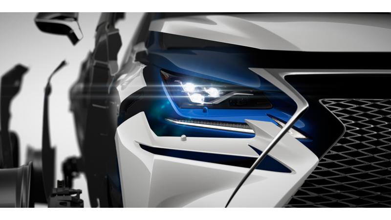 Lexus teased an all-new NX ahead of Shanghai debut