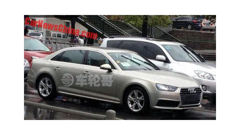 Long wheelbase Audi A4 L spotted on test