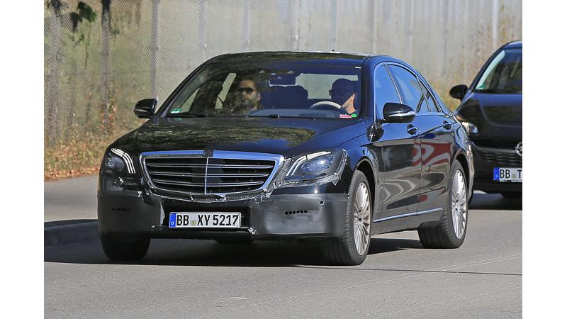 MB's facelifted S-Class caught testing in Germany