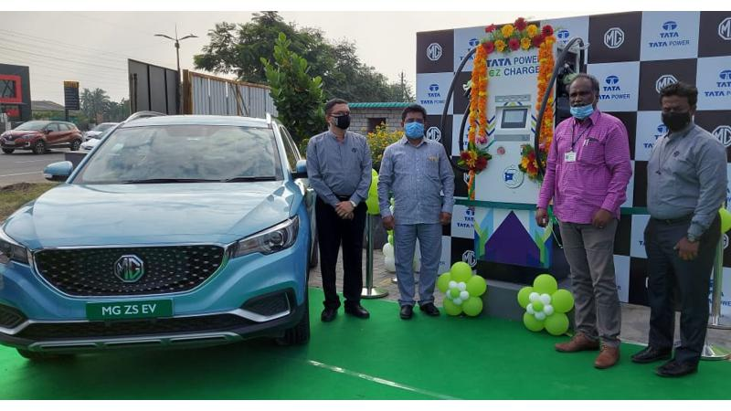 MG Motor-Tata Power inaugurate first ever superfast EV charging station at Coimbatore