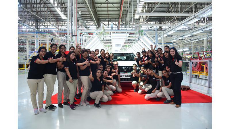 MG Hector produtcion starts at Halol Plant