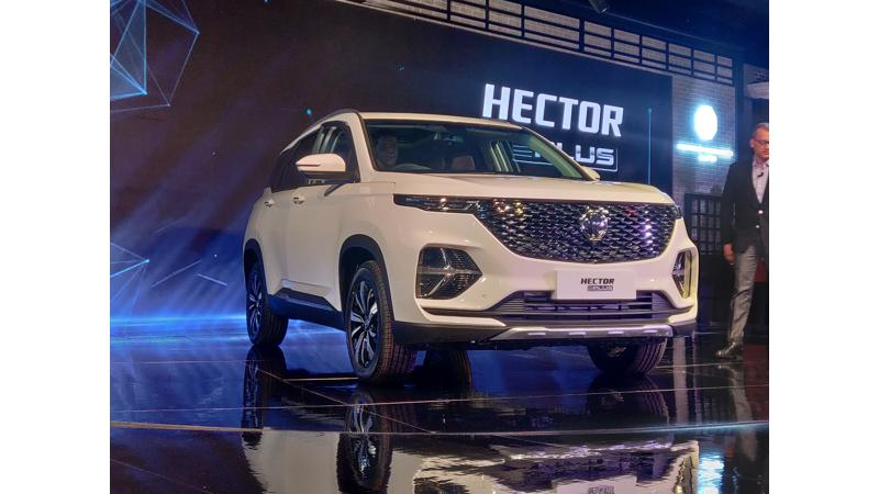 MG Hector Plus unveiled at the Auto Expo 2020