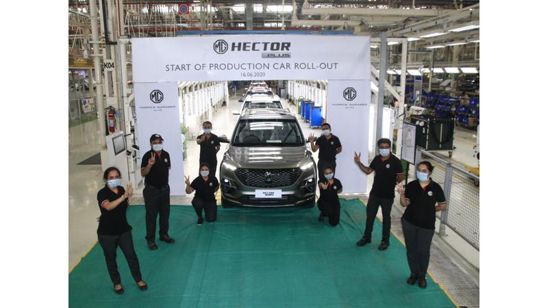 MG begins production of Hector Plus ahead of launch next month