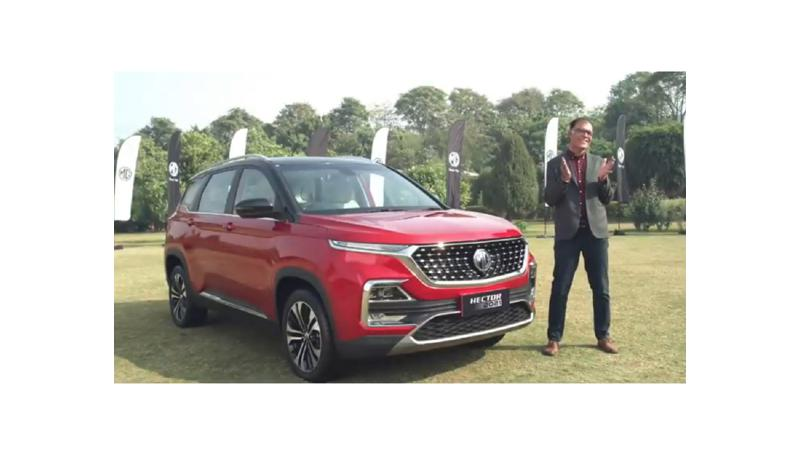 MG launches 2021 Hector facelift in India at 12.90 lakh