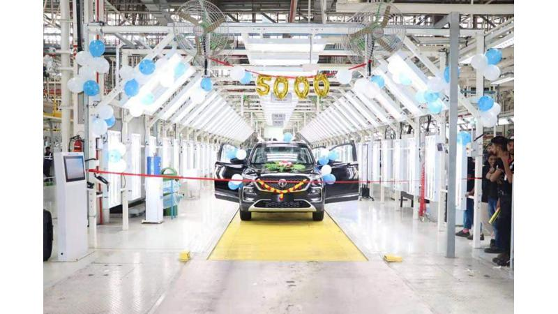 MG Hector achieves 5,000 units production milestone