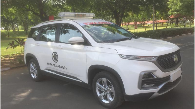 Coronavirus pandemic: MG donates Hector retrofitted as an ambulance