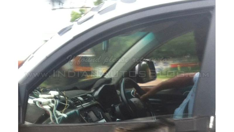Mahindra S101 mini SUV's interior spied yet again