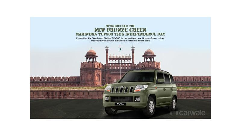 Mahindra launches TUV300 in a new colour on Independence Day