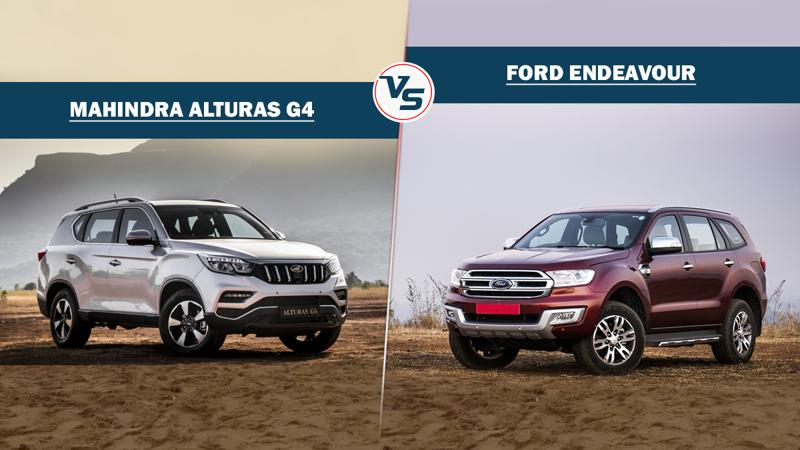 Spec comparison Mahindra Alturas G4 Vs Ford Endeavour