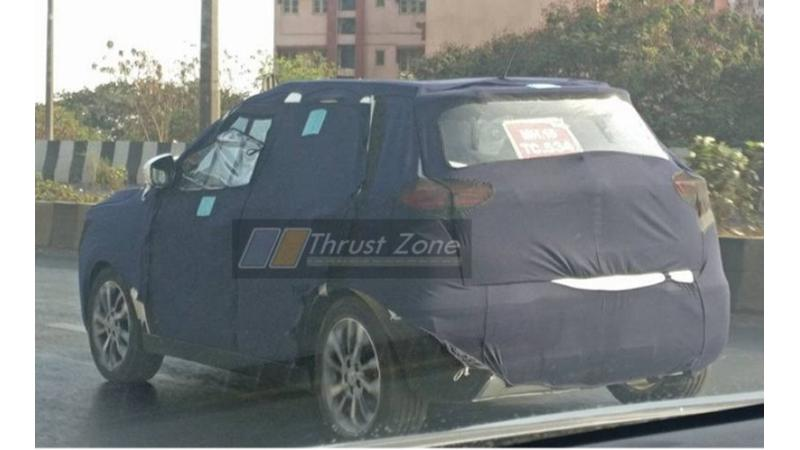 Mahindra S201 spied testing in India