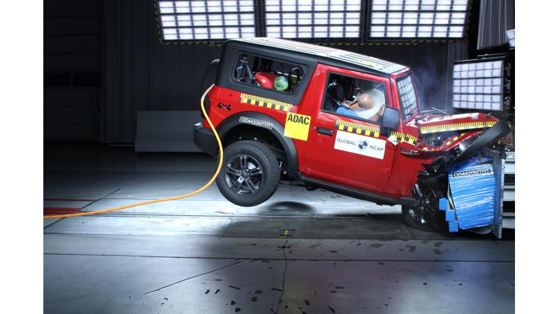 2020 Mahindra Thar achieves four star rating in Global NCAP test