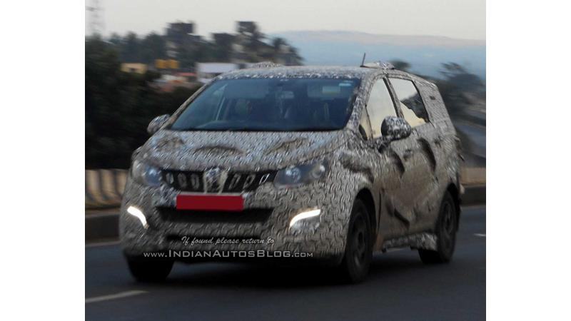 Upcoming Mahindra MPV test mule image surfaces once again