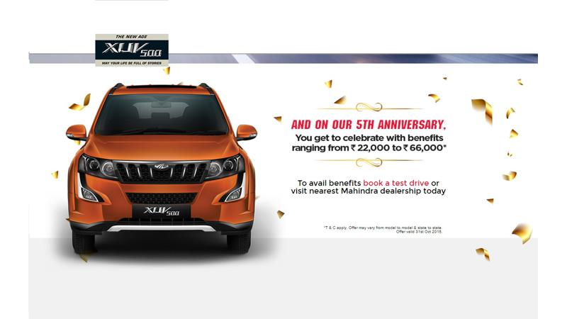 Mahindra celebrates XUV500's fifth anniversary with benefits of up to Rs 66,000