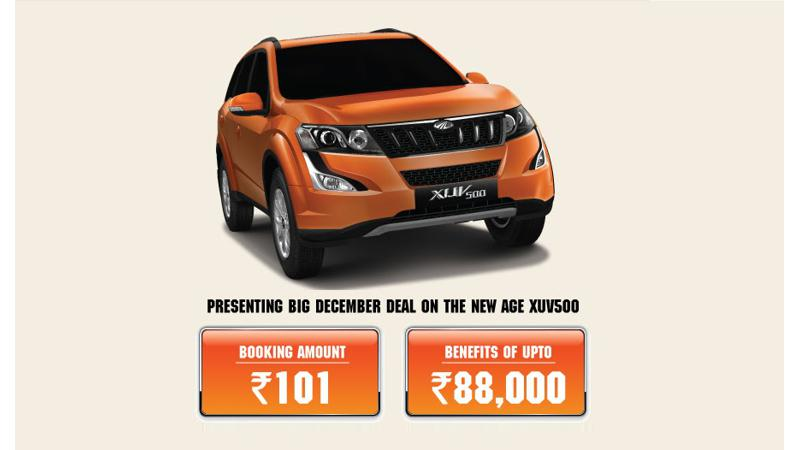 Mahindra XUV500 being offered with special year-end benefits
