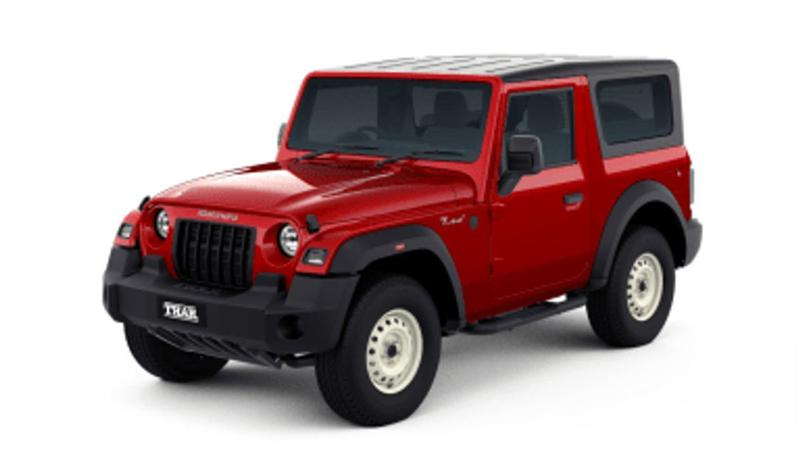 Mahindra Thar AX Std and AX variants go missing from the official website